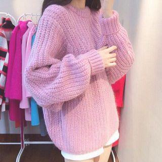 Batwing-sleeve Chunky Sweater
