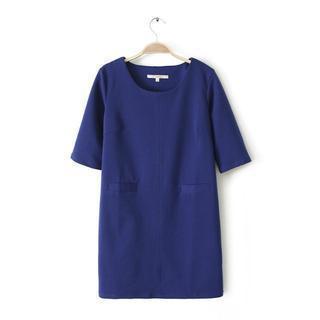 Short-sleeve Shift Dress