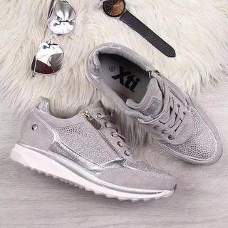 Rhinestone Zip Detail Sneakers