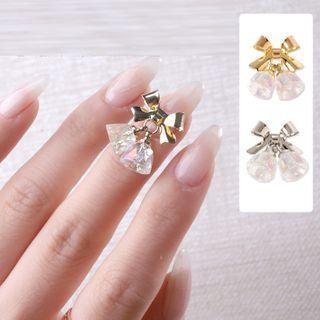 Faux Crystal Alloy Bow Nail Art Decoration
