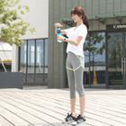 Inset Shorts Contrast-trim Leggings