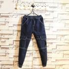 Contrast-stitching Slim-fit Cargo Jeans