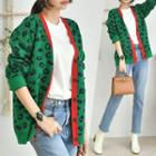 Colored Leopard Pattern Cardigan