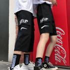 Lettering Shorts / Capri Pants