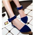 Pointed Ankle Strap Sandals