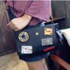 Patch Embroidered Crossbody Bag