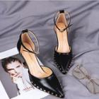 Pointed Ankle Strap High Heel Sandals