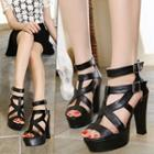 Chunky Heel Gladiator Sandals