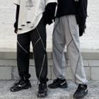 Contrast Stitched Harem Pants