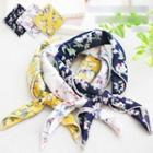 Floral Print Neck Scarf