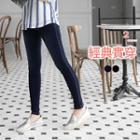 Stitch-accent Skinny Pants