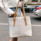 Lace Panel Tote
