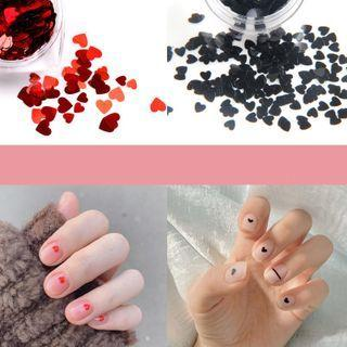 Plastic Heart Nail Art Decoration