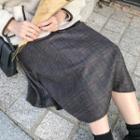 Checked Flannel Midi Flare Skirt (2 Designs)