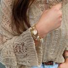 Seashell-charm Chain Bracelet Gold - One Size