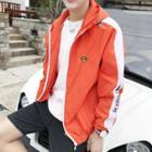 Hooded Contrast-trim Jacket