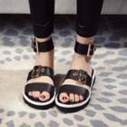 Buckled Genuine Leather Sandals