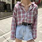 Plaid Shirt Plaid - Pink - One Size