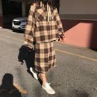Plaid Oversize Jacket / Skirt