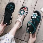 Flower Strappy Platform Sandals