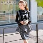 Peplum Printed Jumper Skirt