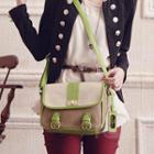 Contrast-trim Messenger Bag