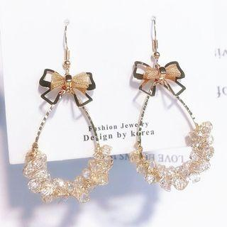 Faux Crystal Bow Drop Earring As Shown In Figure - One Size