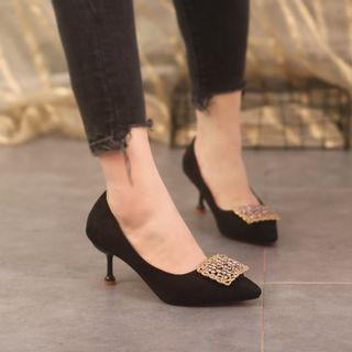 Sequined Pointed Pumps High-heel