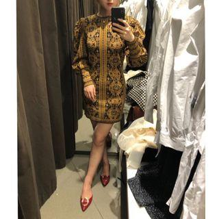 Long-sleeve Jacquard Mini Sheath Dress