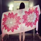 Floral Print Shawl Pink - One Size
