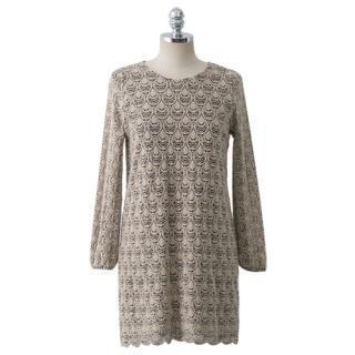 Round-neck Laced Dress