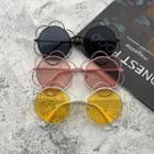 Floral Metal Frame Sunglasses