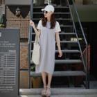 Set: Sleeveless Hooded Dress + T-shirt