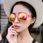 Half-frame Round Sunglasses