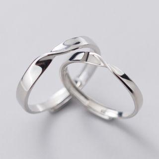 Twisted Ring S925 Silver - As Shown In Figure - One Size