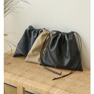Pleather Drawstring Pouch
