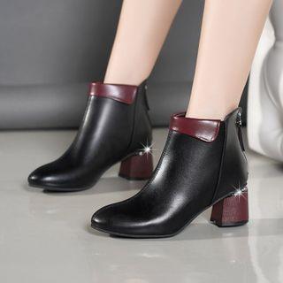 Block Heel Zip Ankle Books