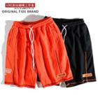 Drawcord Stitched Cotton Shorts