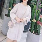Long-sleeve Knitted Dress