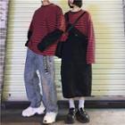 Couple Matching Long-sleeve Stripe T-shirt