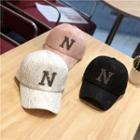 Rhinestone N Baseball Cap