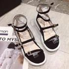Velvet Strappy Platform Sandals