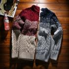 Gradient Cable-knit Sweater