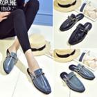 Buckled Slide Loafers