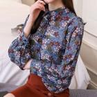 Balloon Sleeve Floral Blouse