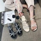 Rhinestone Accent Sandals