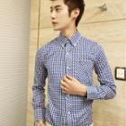 Long-sleeve Gingham Shirt