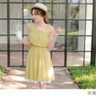 Sleeveless Striped Chiffon Dress