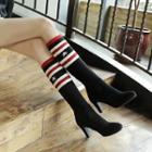 High Heel Knit Short Boots