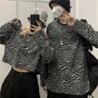 Couple Matching Zebra Print Sweatshirt